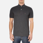 Tommy Hilfiger Men's Short Sleeve Polo Shirt - Charcoal Heather