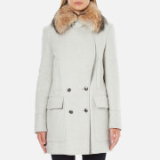 Belstaff Women's Whitney Coat with Fur - White/Grey Melange