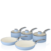 Swan Retro Pan Set - Sky Blue (5 Piece)