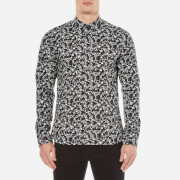 Pretty Green Men's Ivylea Long Sleeve Floral Shirt - Black