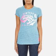 Superdry Women's Stacker T-Shirt - Snowy Fluro Blue