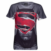 DC Comics Men's Superman Tear T-Shirt - Grau