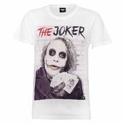 DC Comics Men's Batman Joker Cards T-Shirt - White