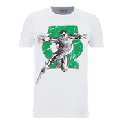 DC Comics Men's Green Lantern Punch T-Shirt - Weiß