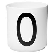 Design Letters Porcelain Cup - O