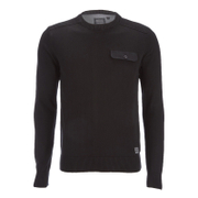 Brave Soul Men's Persian Pocket Jumper - Black