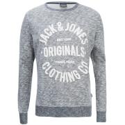 Jack & Jones Men's Originals Clemens Crew Neck Sweatshirt - Navy Melange