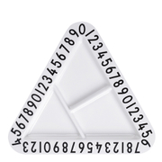 Design Letters Kids' Collection Melamine Triangular Snack Plate - White