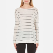 BOSS Orange Women's Wendelly Stripe Jumper - White