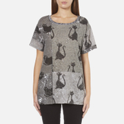 Marc Jacobs Women's Skater Patchwork Cat T-Shirt - Grey/Multi