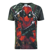 T-Shirt pour Homme -Marvel- Deadpool -Kaki