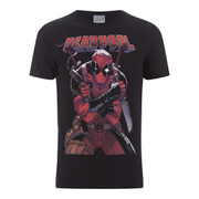 Marvel Herren Deadpool Logo T-Shirt - Schwarz