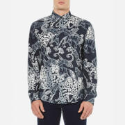 Versace Jeans Men's All Over Patterned Shirt - Blue