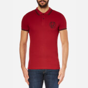 Versace Jeans Men's Chest Logo Short Sleeve Polo Shirt - Vinaccia