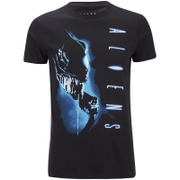 Aliens Men's Vertical T-Shirt - Schwarz