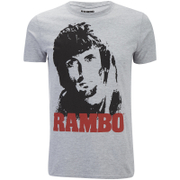 Rambo Men's Face T-Shirt - Grau Marl