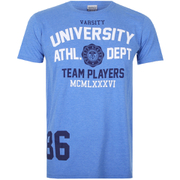 Varsity Team Players Men's University Athletic T-Shirt - Blue