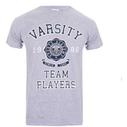 Varsity Team Players Men's Needle & Thread T-Shirt - Grey Marl