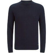 Threadbare Men's Attic Textured Raglan Jumper - Rich Navy