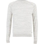Threadbare Men's Tuscan Raglan Jumper - Light Grey