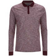 Threadbare Men's Cleethorpes Long Sleeve Polo Shirt - Burgundy