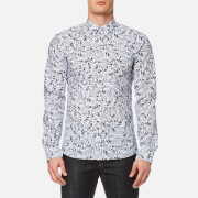 HUGO Men's Ero3 Patterned Long Sleeve Shirt - Pastel Grey