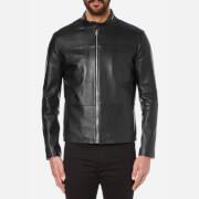 HUGO Men's Lefox Leather Jacket - Black