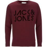 Jack & Jones Men's Core Sharp Crew Neck Sweatshirt - Port