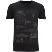 Star Wars Men's Fleet Schematic T-Shirt - Schwarz