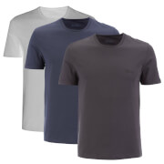 BOSS Hugo Boss Men's 3 Pack T-Shirt - White/Blue/Grey