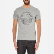 BOSS Green Men's Large Logo Crew Neck T-Shirt - Pastel Grey