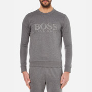 BOSS Green Men's Salbo Logo Sweatshirt - Medium Grey
