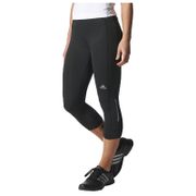 adidas Women's Sequencials Climalite 3/4 Running Tights - Black