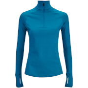 adidas Women's Techfit 1/2 Zip Training Top - Blue