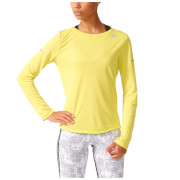 adidas Women's Sequencials Climalite Running Long Sleeve T-Shirt - Yellow