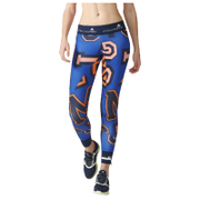 adidas Women's Stella Sport Print Training Tights - Blue/Orange