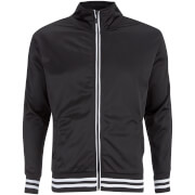 Brave Soul Men's Vintage Zip Through Tricot Jacket - Black