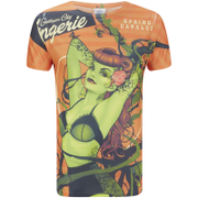DC Comics Men's Bombshell Poison Ivy T-Shirt - Red