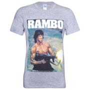 Rambo Gun Heren T-Shirt - Grijs