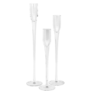 Broste Copenhagen Loke Glass Candle Holder (Set of 3)