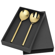 Broste Copenhagen Rose Gold Salad Serving Set
