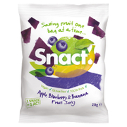 Snact Fruit Jerky - Apple, Banana & Blueberry (5 Bags)