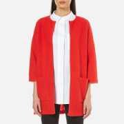 Selected Femme Women's Darla 3/4 Knit Cardigan - Flame Scarlet