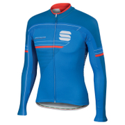 Sportful Gruppetto Thermal Long Sleeve Jersey - Blue