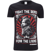 T-Shirt Homme The Walking Dead Fight the Dead - Noir