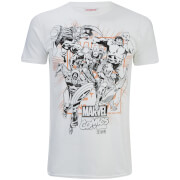 Marvel Men's Band of Heroes T-Shirt - White