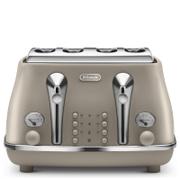 De'Longhi Elements Four Slice Toaster - Beige