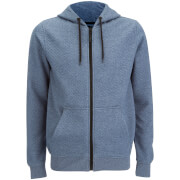 Dissident Men's Dryden Quilted Zip Through Hoody - Blue