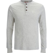 Tokyo Laundry Men's Timber Henley Long Sleeve Top - Oatgrey Marl