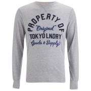 Camiseta manga larga Tokyo Laundry Rowe Creek - Hombre - Gris claro
